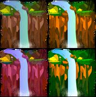 Vector Waterfalls by breeozoa