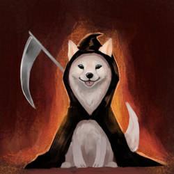Drawtober 7 - Grin Reaper by Noctualis