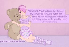 Katie's Diaper AD (clean) by Kawaiiomo