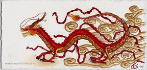 Red Chinese dragon by bofink