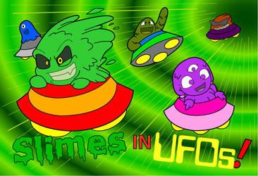 Slimes in UFOs by KingMonster