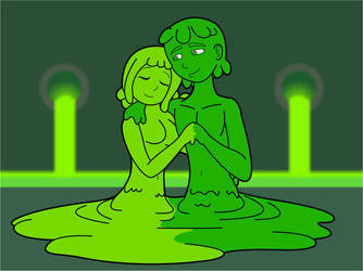 Love blossoms in a toxic dump? by KingMonster