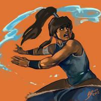 Waterbending n' Kick-assing by Bekuhz