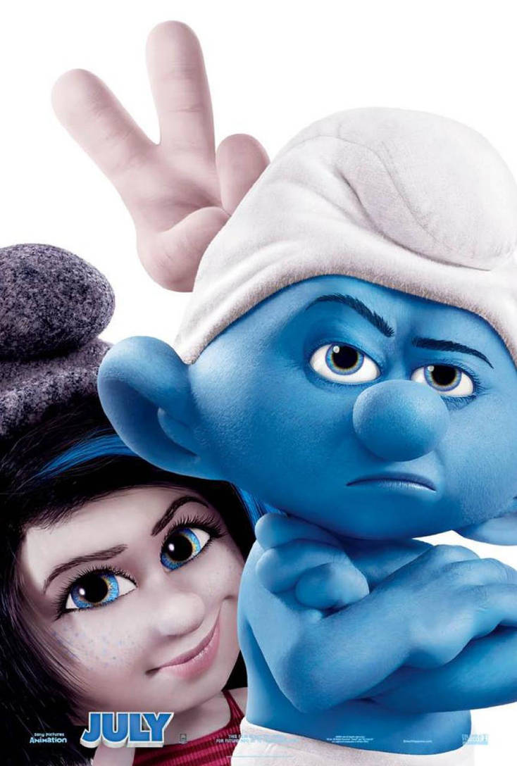 The Smurfs 2 Poster Vexy And Grouchy Smurf By Littlelavigne On