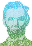 Abraham Lincoln text portrait by Plentyrees