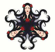 Round Ornament-09-Beauty by MarjaZ