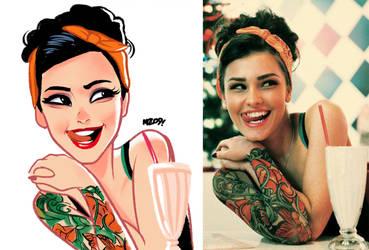 Tattooed Girl by MZ09