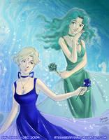 Princesses Neptune x Uranus by strawberrygina