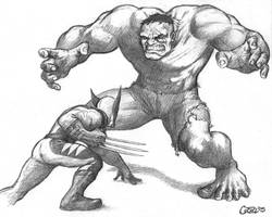 Wolverine VS Hulk 2005 by Sumo0172