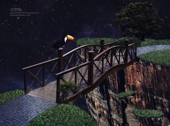 O tucano na ponte a noite by GRTp