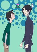 Mistletoe:  Harry and Snape by spicysteweddemon