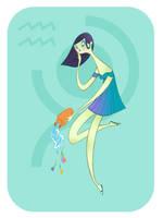 Zodiac: Aquarius by spicysteweddemon