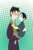 Harry and Little Sev by spicysteweddemon