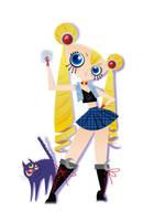 Punk Sailor Moon by spicysteweddemon