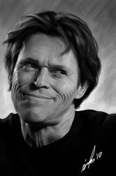 Willem Dafoe by fishboo
