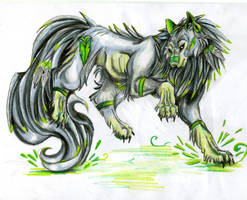 earth wolf by VioletMinim