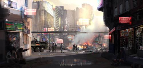Evacuation (alternative version) by Aidelank