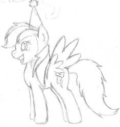 Rainbow Dash Birthday Sketch by Irukapooka