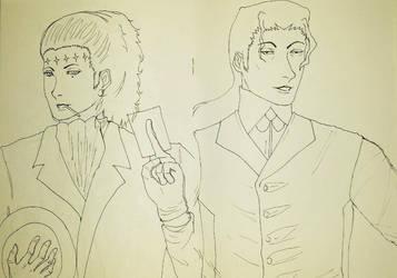 D.gray-Man Tiky and Sheryl by The-Empress-Shark