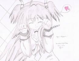 Yui nyann ~~ from angel beats by zidane2993
