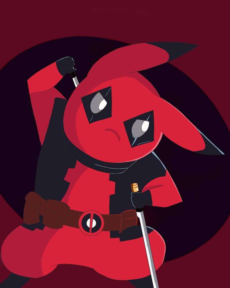 PIkachu Deadpool by GenocideJackie