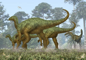 Iguanodon bernissartensis by paleopeter