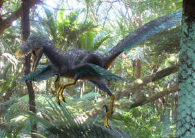 Deinonychus (Leaping) by paleopeter