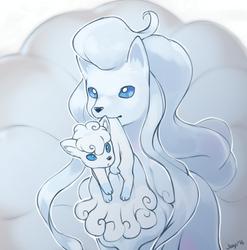 Alola Ninetales and Vulpix by Jiayi