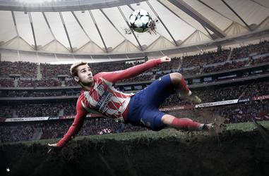 Antoine Griezmann Wallpaper Atletico Madrid 2018 by ArtsGFX99