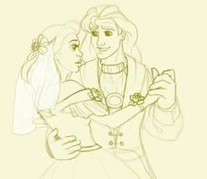 Belle's Wedding - Sketch by madam-marla