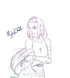 MyhaChii's Sketch  by Anime0202