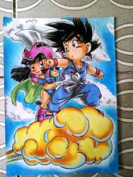 GOKU E CHICHI DBZ by powre