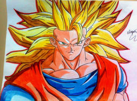 GOKU SUPER SAYAJIN  3 by powre