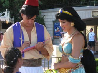 Aladdin and Jasmine by InaraFirefly
