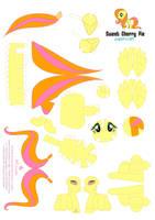 Sweet Cherry Pie papercraft pattern by Kna