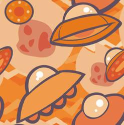 ORANGE ZAPP UFOS by Kna