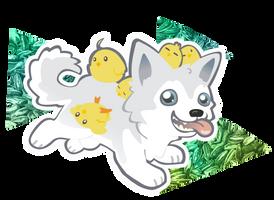 Husky woof by Kna