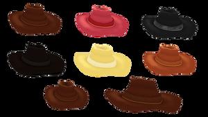 3d prop Cowboy hat by Kna