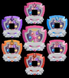 Rank 3 Shields for GeneralDurandal by Kna