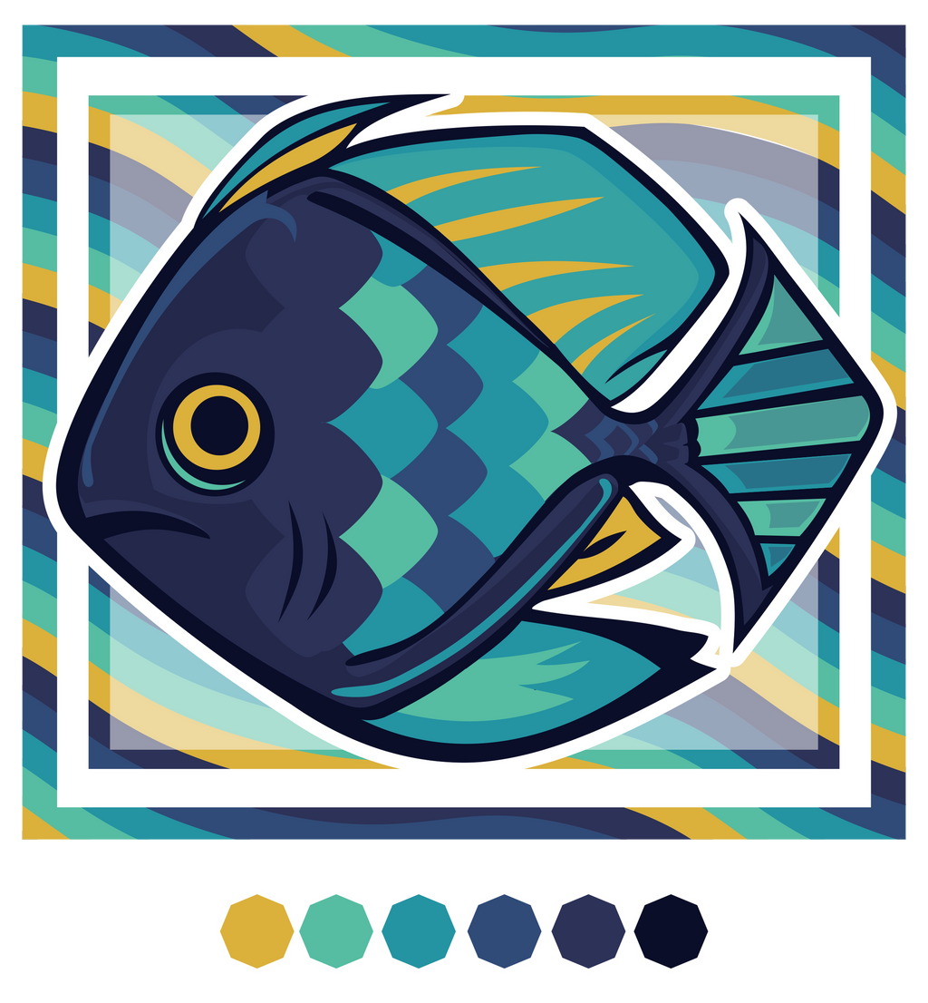 Hexacolored Fish by Kna