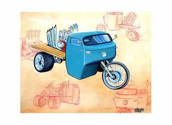 Lil' Terror - Moto Guzzi 3 Wheeler Hot Rod by FesterBZombie