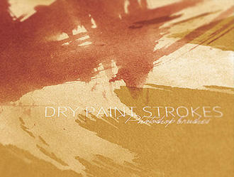 DRY PAINT STROKES V1 by illustratorcs6