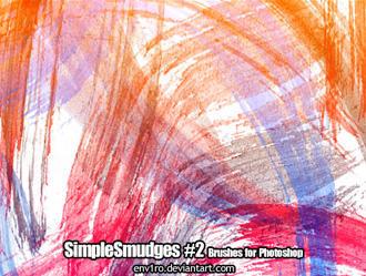 simple smudges photoshop brushes by illustratorcs6