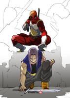 Crossover: Deadpool vs Trunks by AtariBetch
