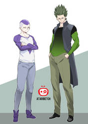 Frieza and Cell- human version by AtariBetch