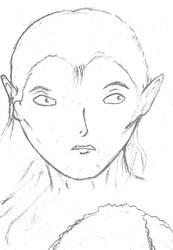 Male Elf Portrait by HiAgain69