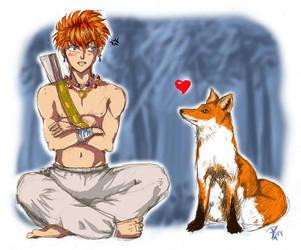 Tasuki vs Fox by roxbaby