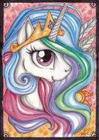 Princess Celestia by Kattvalk