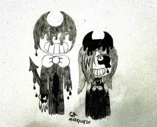 *Inktober* Wretched and Divine! by MOTLEYLOMBAXCRUE666