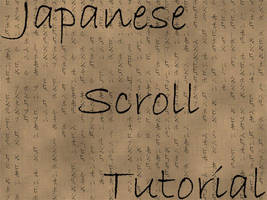 Japanese Scroll Tutorial by AllenR